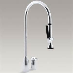 kohler black kitchen faucets kohler k 6330 cp promaster kitchen faucet in polished chrome