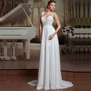 simple backless a line cheap beach wedding dress 2016 lace With simple inexpensive wedding dresses