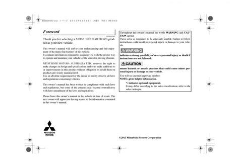 manual mitsubishi outlander phev iii  owners manual page
