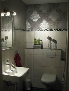 bad 39gaste wc39 unser landhauschen zimmerschau With markise balkon mit wc tapete