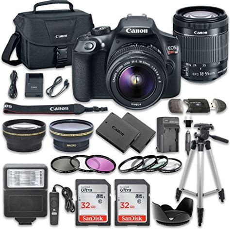 Canon EOS Rebel T6 DSLR Camera Bundle with Canon EF S 18