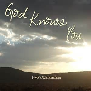 God Knows Everything About You