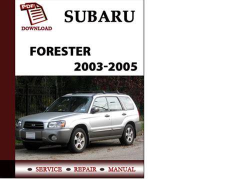 free online car repair manuals download 1986 subaru xt electronic throttle control subaru forester 2003 2004 2005 workshop service repair manual pdf d