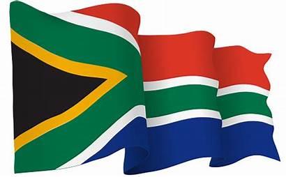 South Flag Africa Waving Vector Illustration