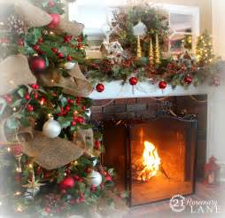 French Country Living Rooms Pinterest by 21 Rosemary Lane 2013 Christmas Mantel