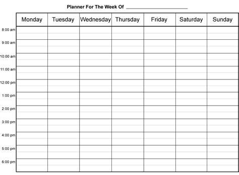 weekly schedule template printable weekly calendar print out weekly calendar template