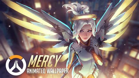 mercy animated wallpaper overwatch youtube