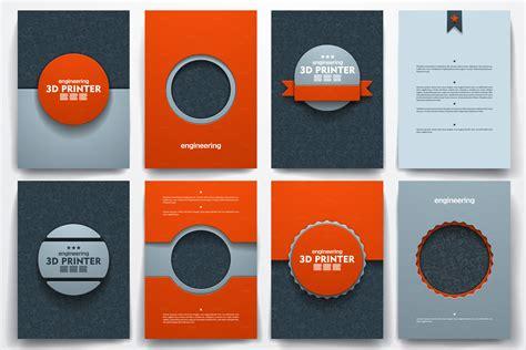3d printer templates templates on 3d printer theme brochure templates on creative market