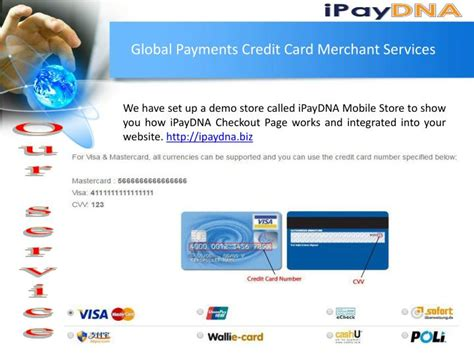 And there are many reasons it can be a very bad idea to pay for a utility with. PPT - Global Payments Credit Card Merchant Services ...