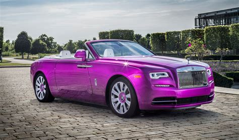 michael fuxs custom rolls royce dawn  fuxia inspired
