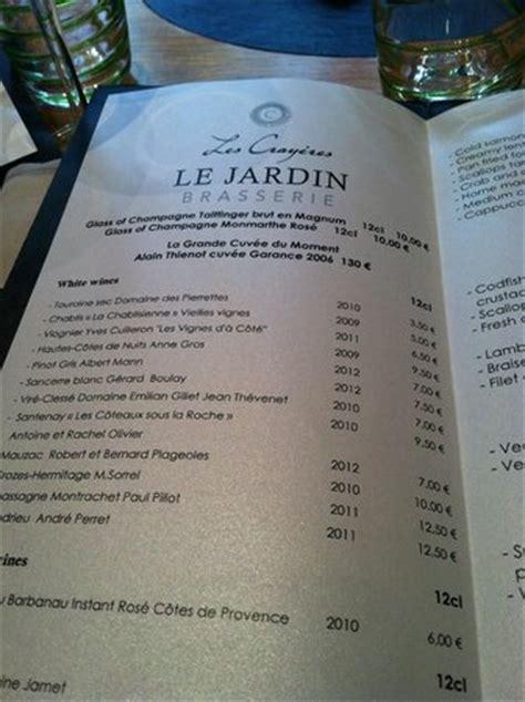 menu picture of le jardin les crayeres reims tripadvisor