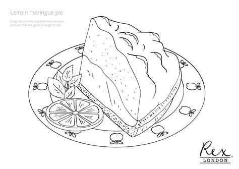 colouring meringue lemon pie rex pages london