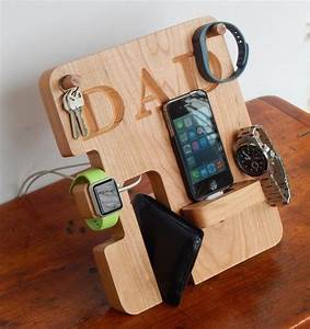 Personalized Phone and Apple Watch Docking Station