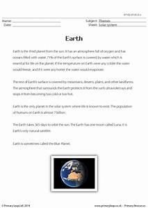Earth - Reading Comprehension