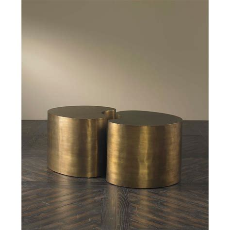modern brass table l pinta modern brass bean coffee table small kathy kuo home