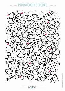 Coloriage De Paque : coloriage de p ques poules et oeufs ~ Melissatoandfro.com Idées de Décoration