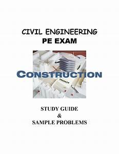 Civil Engineering Pe Exam Study Guide