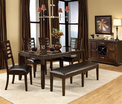 standard furniture bella  piece rectangular leg dining