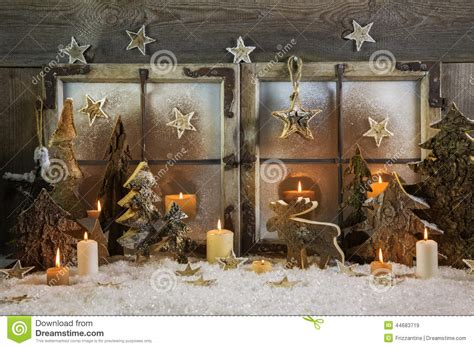 handmade decoration of wood outdoor in the win stock image image 44683719