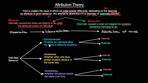 attribution theory organisational behavior meanthat