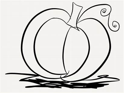 Pumpkin Coloring Pages Pumpkins Printable Halloween Simple