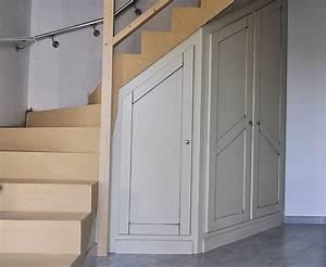 Meubles sous escalier idees amenagement accueil design for Meuble sous escalier