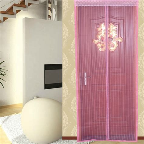 mesh door magic curtain net magnetic snap fly bug insect