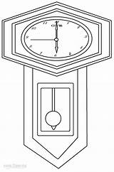Clock Coloring Pages Template Printable Cool2bkids Cuckoo sketch template