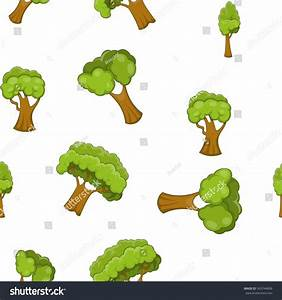 Arboreal Plant Pattern Cartoon Illustration Arboreal Stock ...