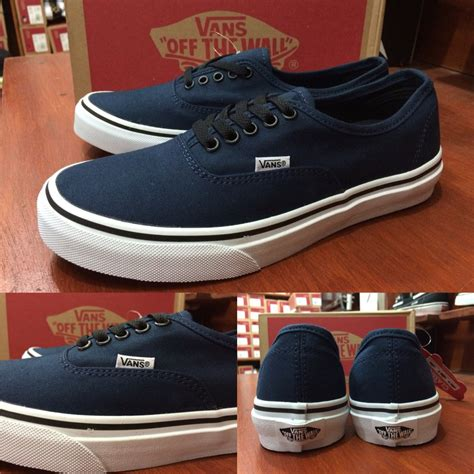 sepatu vans authentic blue motif jual sepatu vans authentic dress blue original premium quality waffle dt di lapak kujang store