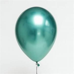 113939 chrome green balloon helium balloons dubai With little letter balloons
