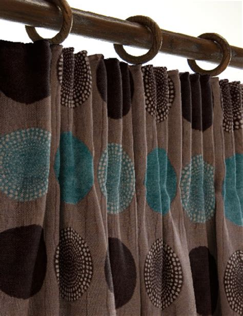 curtain details for arnez teal chocolate curtain express