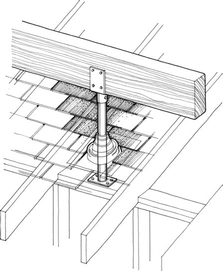 skylift roof riser bracket for porch patio covering
