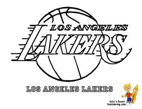 los angeles lakers logo coloring page coloring home