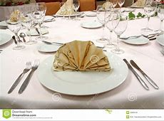 Dinner table setting stock photo Image of plants, couvert