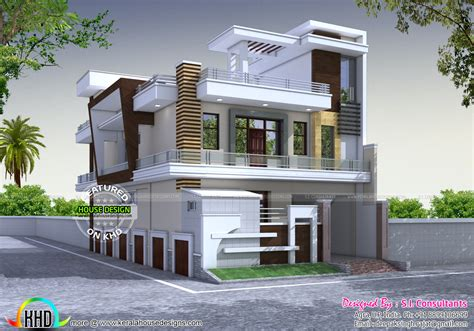 9 Feet Front Home Design : Decorative Modern Style 333 Sq-yd Home