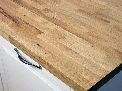 Arbeitsplatte / Küchenarbeitsplatte Massivholz Wildeiche