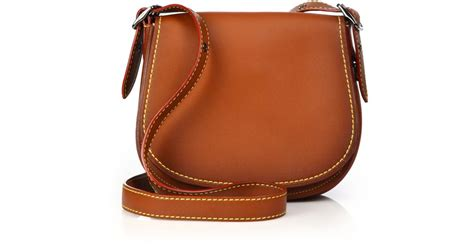 Coach Leather Saddle Bag In Brown