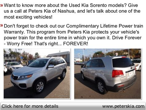 Peters Kia Of Nashua by Used Kia Sorento Peters Kia Of New Hshire Serving
