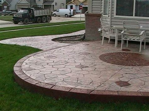 Stamped Concrete Ideas   Stamped Concrete Patio Designs