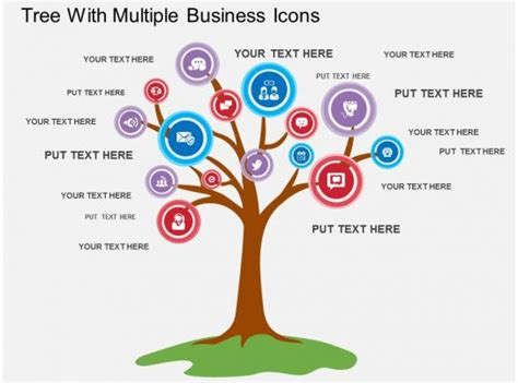 sx tree  multiple business icons flat powerpoint