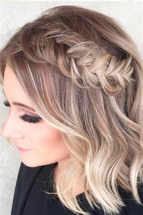 33 amazing prom hairstyles for short hair 2019 braids