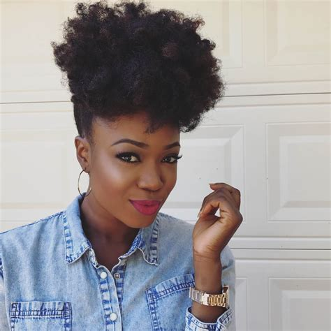 create the perfect afro puff curlynikki natural hair care