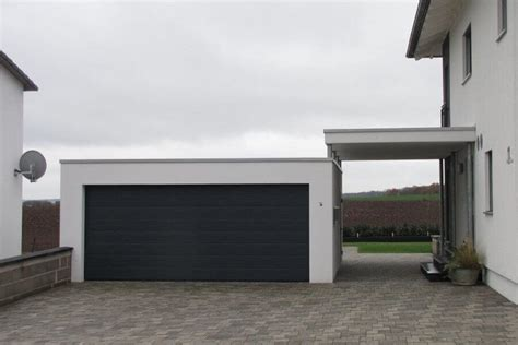 Carport An Garage by Fertigcarport In Kombination Mit Garage Ott Garagen