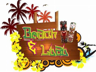 Party Hawaiian Luau Theme Beach Transparent Props