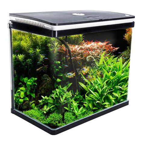 fish tank l aquarium curved glass rgb led fish tank 52l dynamic power