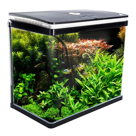 Aquarium Curved Glass Rgb Led Fish Tank 52l  Dynamic Power