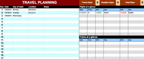 think with google template for google docs itinerary template google doc calendar doc