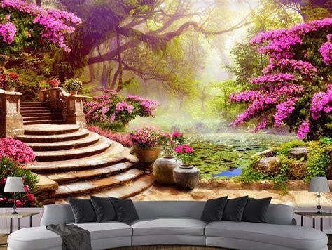 3d Scenery Wallpaper by 3d Stereoscopic Wallpaper Custom 3d Wallpapers For Living