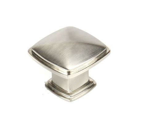 Square Cabinet Knobs by Kitchen Cabinet Drawer Square Knobs Ku091 Satin Nickel